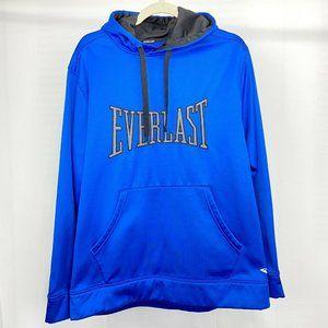 Everlast Men's L Hoodie Sweatshirt Logo Blue Black